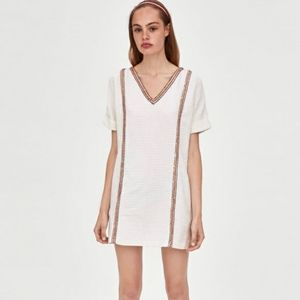 Zara Trf Tweed Mini Dress